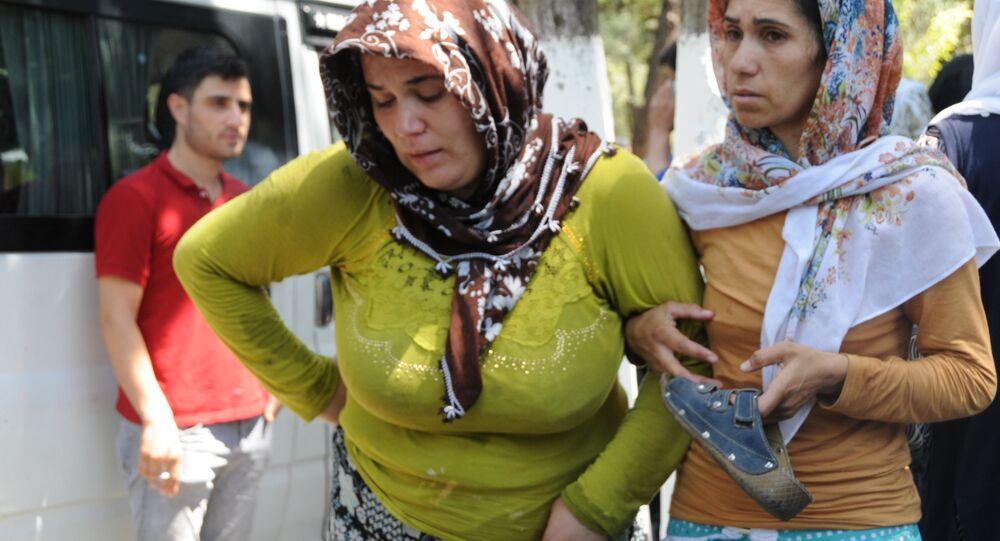 Gaziantep'teki saldırıda hayatını kaybedenler son yolculuklarına uğurlandı.