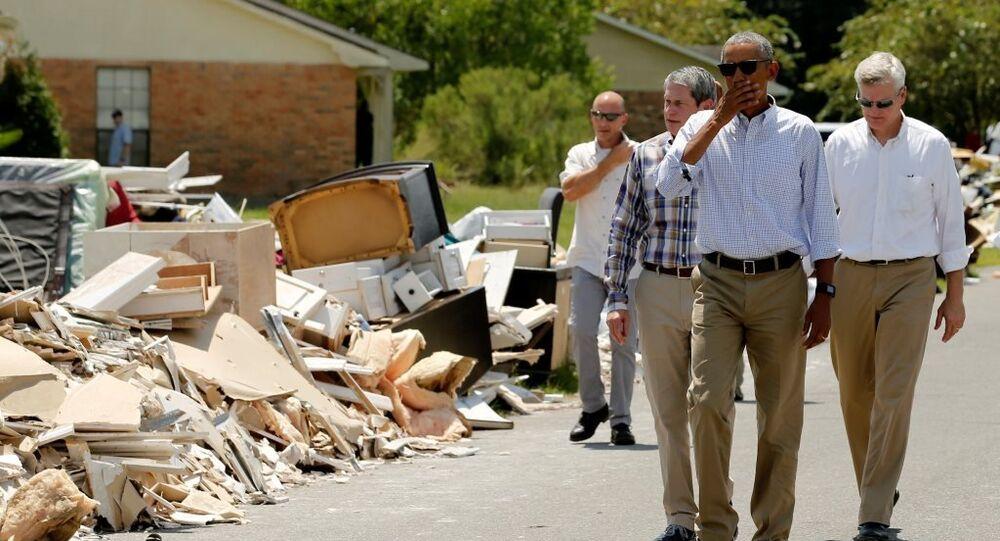 Barack Obama Louisiana'da