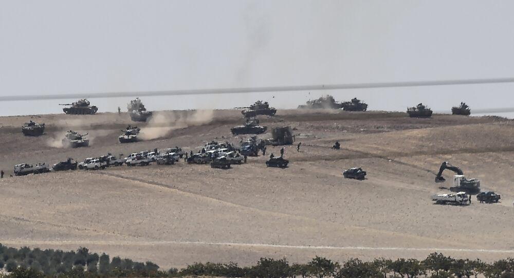 Türkiye-Suriye sınırına 3 km mesafedeki Keklice IŞİD'in elinden alındı.