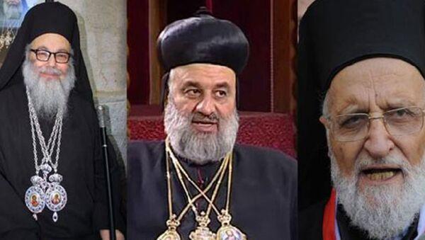 Antakya ve Tüm Doğu Rum Ortodokslar Patriği X. Yuhanna Yazıcı, Melkite Rum Katolikler Patriği III. Grigorios Lahham ve Süryani Ortodokslar Patriği Mar İgnatios II. Afram - Sputnik Türkiye