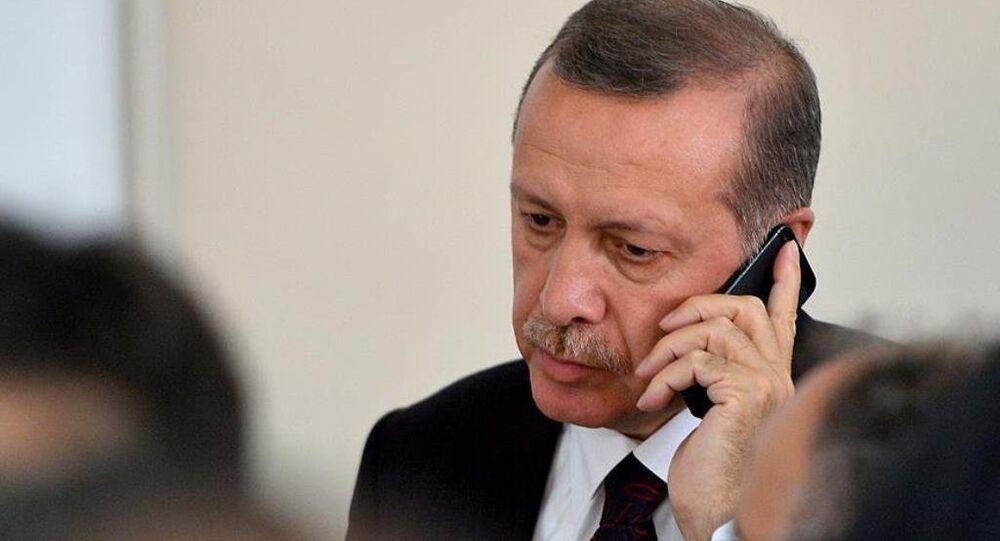 Recep Tayyip Erdoğan - telefon