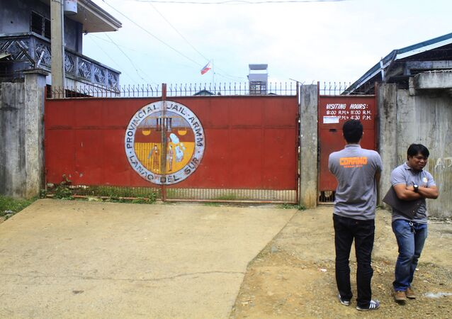 Filipinler'deki Maravi kentinde bulunan Lanao del Sur bölge hapishanesi
