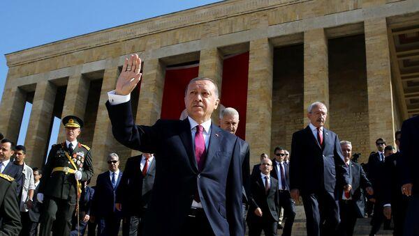 Recep Tayyip Erdoğan Anıtkabir'de / 30 Ağustos - Sputnik Türkiye