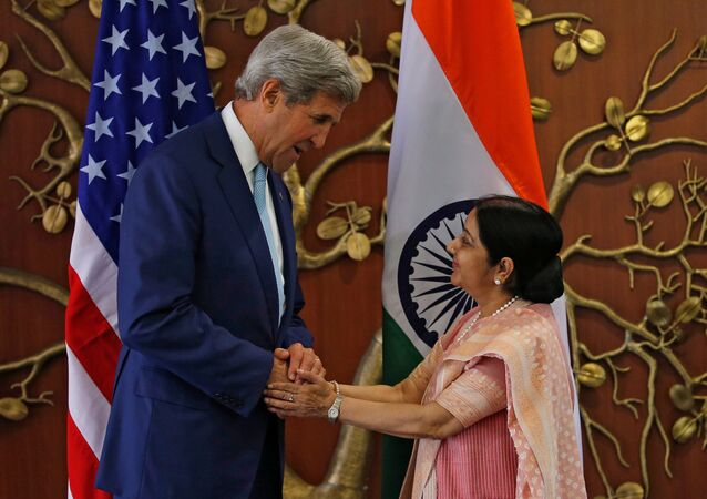 John Kerry - Sushma Swaraj