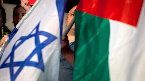 İsrail ve Filistin bayrak - Sputnik Türkiye