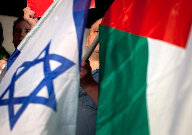 İsrail ve Filistin bayrak