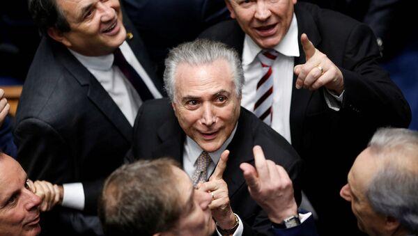 Brezilya Devlet Başkanı Michel Temer - Sputnik Türkiye