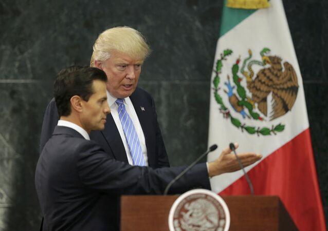 ABD'li başkan adayı Donald Trump- Meksika devlet Başkanı Pena Nieto