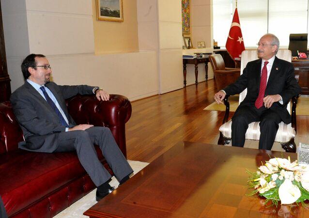 CHP Genel Başkanı Kemal Kılıçdaroğlu, ABD Büyükelçisi John Bass ile görüştü.