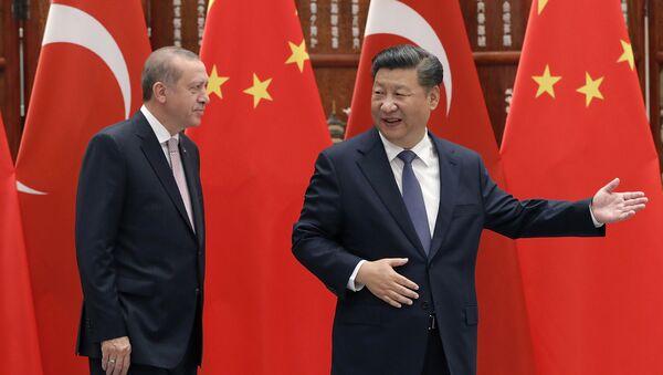 Türkiye Cumhurbaşkanı Recep Tayyip Erdoğan- Çin Devlet Başkanı Şi Cinping - Sputnik Türkiye