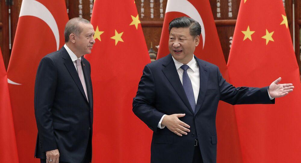 Türkiye Cumhurbaşkanı Recep Tayyip Erdoğan- Çin Devlet Başkanı Şi Cinping