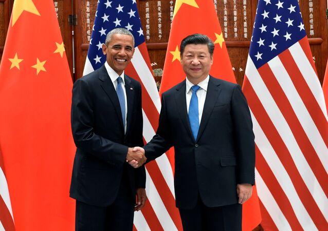 ABD Başkanı Barack Obama- Çin Devlet Başkanı Şi Cinping