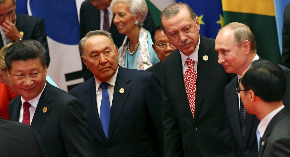 Şi Cinping - Nursultan Nazarbayev - Recep Tayyip Erdoğan - Vladimir Putin