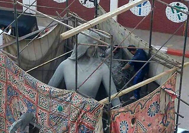 Mısır'daki 'Şehit Annesi' heykeli