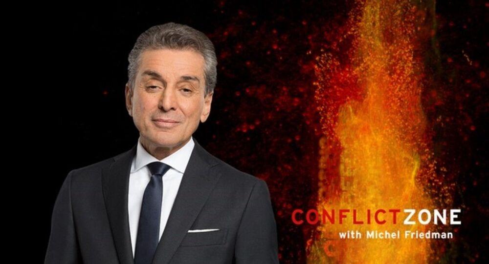 Conflict Zone programının sunucusu Michel Friedman