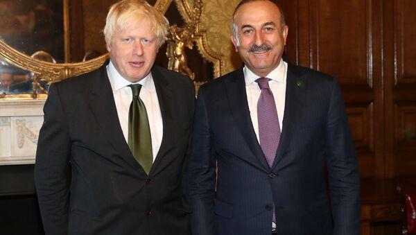 Mevlüt Çavuşoğlu - Boris Johnson - Sputnik Türkiye