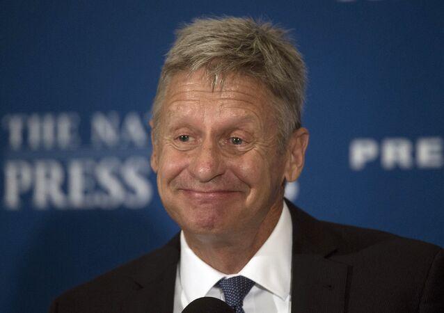 ABD'deki başkanlık seçimlerinin Liberteryen Partili adayı Gary Johnson