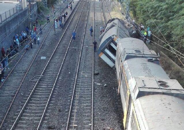 Train Derails in Northern Spain