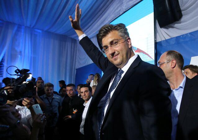 HDZ Genel Başkanı Andrej Plenkoviç