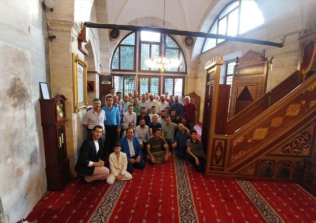 Ayasofya Müzesi Hünkar Kasrı'nda ilk kez bayram namazı kılındı.