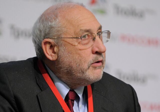 Joseph Stiglitz, economist and the Nobel Prize winner, speaking at the Russia-2011 Forum in Moscow