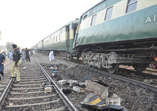 Pakistan'da tren kazası