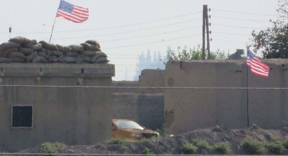 ABD bayrağı Tel Abyad
