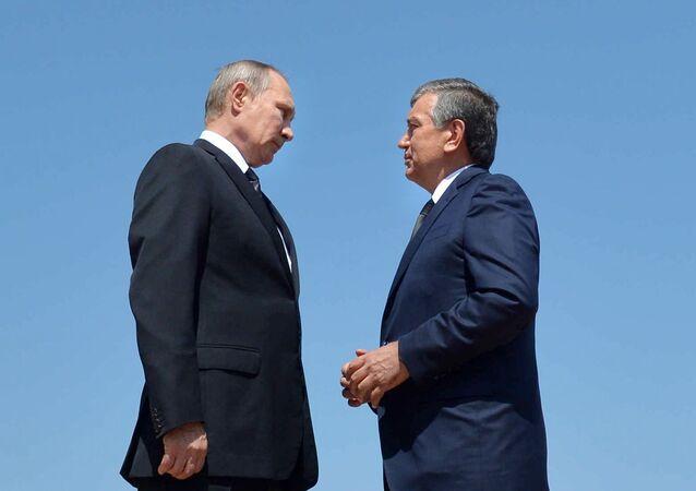 Rusya Devlet Başkanı Vladimir Putin- Özbekistan Geçici Devlet Başkanı Şevket Mirziyoyev