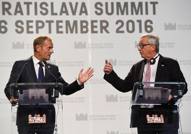 AB Konseyi Başkanı Donald Tusk- Avrupa Komisyonu Başkanı Jean- Claude Juncker