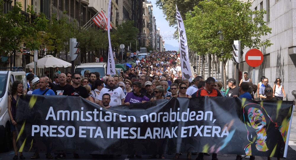 Bilbao'da 'ETA mahkumlarına özgürlük' gösterisi