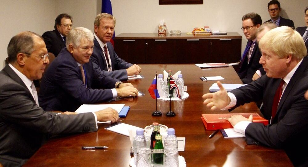 Sergey Lavrov, Boris Johnson