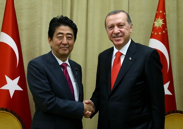 Cumhurbaşkanı Recep Tayyip Erdoğan, BM Genel Kurul görüşmeleri için bulunduğu New York'ta, Japonya Başbakanı Şinzo Abe'yi kabul etti.
