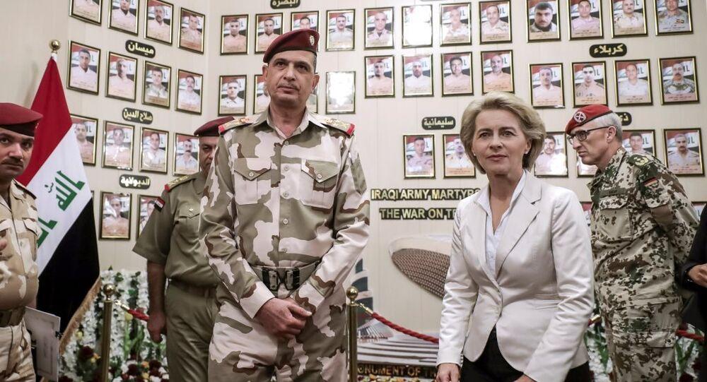 Almanya Savunma Bakanı Leyen Irak'ta