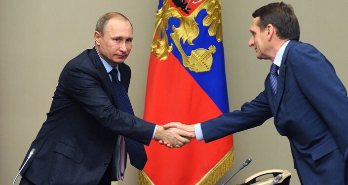 Vladimir Putin ve Sergey Narışkin