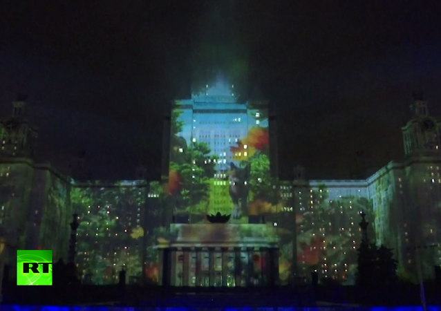 Rusya'nın eşsiz doğası, Moskova Devlet Üniversitesi'nin duvarlarını süsledi