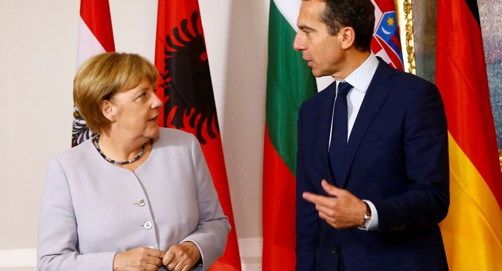 Almanya Başbakanı Angela Merkel ve Avusturya Başbakanı Christian Kern, Viyana'daki Mülteci Zirvesi'nde