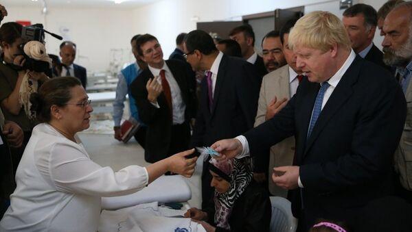 İngiltere Dışişleri Bakanı Boris Johnson-Gaziantep - Sputnik Türkiye