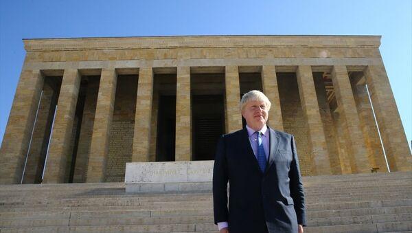 İngiltere Dışişleri Bakanı Boris Johnson, Anıtkabir'de - Sputnik Türkiye