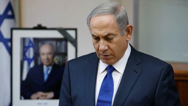 Benyamin Netanyahu - Şimon Peres - Sputnik Türkiye