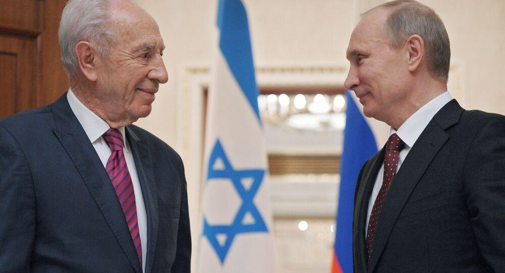 Eski İsrail Cumhurbaşkanı Şimon Peres- Rusya Devlet Başkanı Vladimir Putin