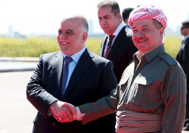 Irak Kürt Bölgesel Yönetimi Başkanı Mesud Barzani - Irak Başbakanı Haydar el İbadi