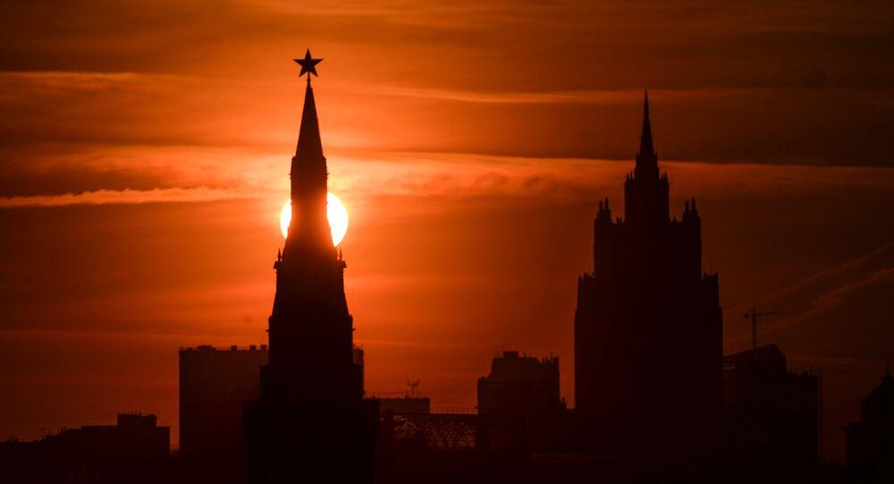 Moskova'da Kremlin kulelerinden biri.