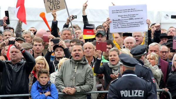 Almanya Dresden Protestolar - Sputnik Türkiye