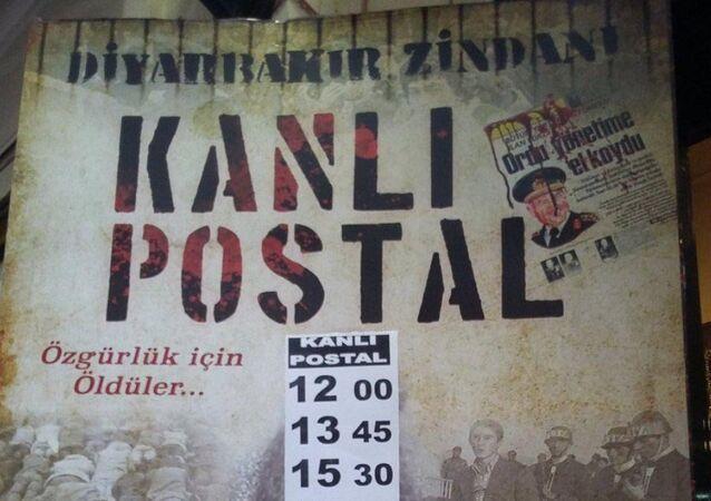 Diyarbakır 5 Nolu Cezaevi'nde 12 Eylül askeri darbesinde yaşananları konu alan, 'Kanlı Postal' adlı film Diyarbakır'da kendine salon bulamadı.