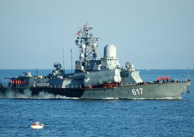 Rusya'nın Karadeniz Filosu'na ait 'Miraj' isimli savaş gemisi