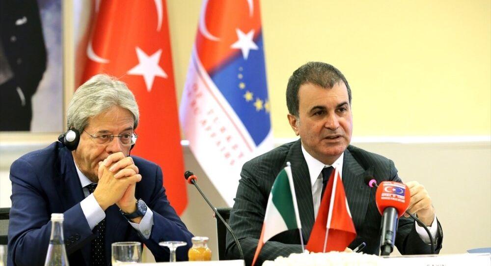 Avrupa Birliği Bakanı ve Başmüzakereci Ömer Çelik-İtalya Dışişleri Bakanı Paolo Gentiloni