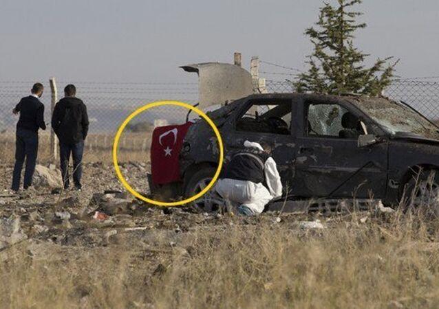 Ankara'daki canlı bombalar dikkat çekmemek için araca Türk bayrağı asmışlar