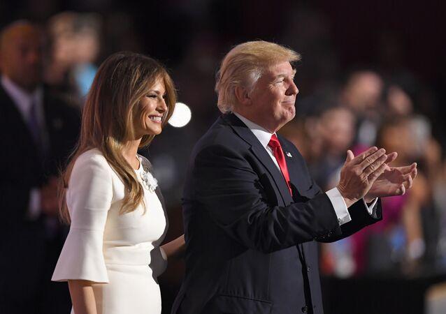 ABD'de Cumhuriyetçi başkan adayı Donald Trump- Eşi Melania Trump