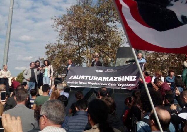 Kadıköy'de Susturamazsınız eylemi