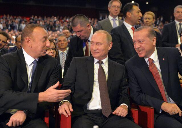 Vladimir Putin - İlham Aliyev - Recep Tayyip Erdoğan